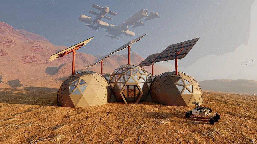 Архитектор показал, как могут выглядеть дома на Марсе. ФОТО