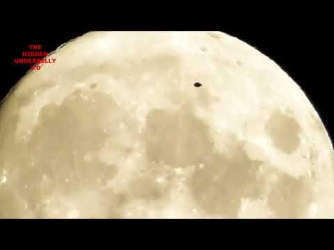 Появилось видео с НЛО, плывущим по поверхности Луны